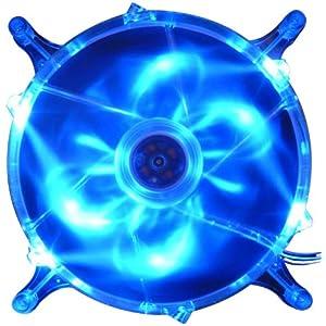 ザワード Globefan 青色LED搭載ケースファン180mm角 29.2dBA ZFL18025L-BU