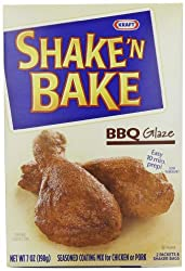 Shake 'N Bake Seasoned Coating Mix, BBQ Glaze, 7-Ounce Boxes (Pack of 8)