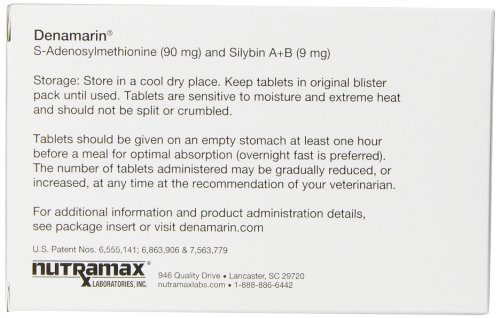 Nutramax Denamarin Tablets, Small Dog/Cat, 30 Count