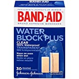 Band-Aid Brand Adhesive Bandages, Clear Water Block Plus, 30 Count