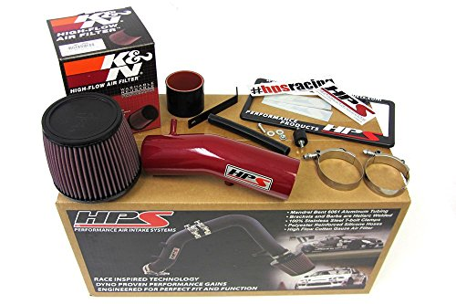 03-07 Honda Accord 3.0L V6 HPS Red Shortram Air Intake Kit + K&N Filter Short Ram Cool (06 Acura Tl Short Intake compare prices)