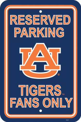 NCAA Auburn Tigers 12-by-18 inch Plastic Parking Sign at Amazon.com