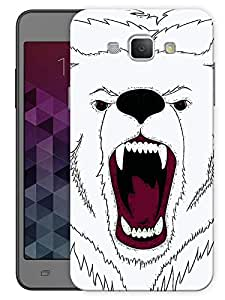 """Humor Gang Angry Bear Face Printed Designer Mobile Back Cover For """"Samsing Galaxy A8"""" (3D, Matte, Premium Quality Snap On Case)"""