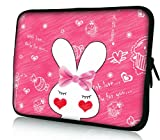 Cute Pink Rabbit Neoprene Soft 15 154 inch laptop sleeve Case Bag Pouch for Apple MacBook Pro 154 New Macbook Pro RetinaDell inspiron 1545 15R Alienware M15X XPS 15ZASUS HP Pavilion G6 dv6 Envy155 Sony Vaio E SeriesSAMSUNGAcer AspireLENOVO ideapad Toshiba