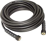 Apache 10085591 Thermoplastic Rubber Black Pressure Washer Hose, M22 Female x M22 Female Connection, 3700 PSI Maximum Pressure, 50' Length, 5/16