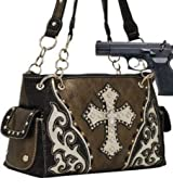 Pewter Studded Cross Conceal and Carry Purse