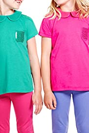 2 Pack Autograph Sequin Embellished T-Zhirts with Modal [T77-5885A-Z]