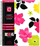 Studio C Fashionista Collection Floral 1-Subject Notebook 10.5x8.5 inches 80 Sheets College Ruled Poly Cover Multicolored (95689)