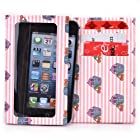 Kroo Bifold Tyvek Wallet with Smart Phone Compartment fits LG Vu Plus Case - Pink Cupcakes