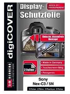 digiCOVER Displayschutzfolie passgenau für Sony NEX-C3 / NEX-5N / NEX-7