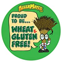 AllerMates Wheat-Gluten Free Alert Stickers [24 Pack] by Awearables, Inc.