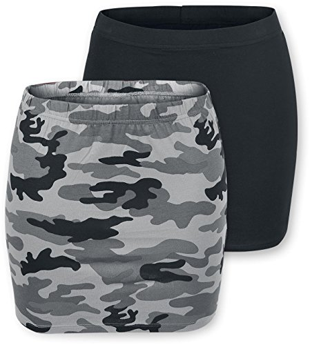 Black Premium by EMP Ladies Skirts - Double Pack Gonna nero/grigio S