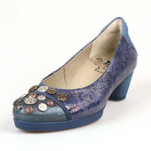 Think Nola 80176 Damen Pumps (40.5, Blau (water/kombi 86))
