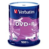 Verbatim 95098 4.7 GB up to16x Branded Recordable Disc DVD+R (100 Disc Spindle)