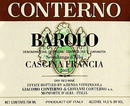 2005 Conterno Giacomo Cascina Francia Barolo 750Ml