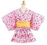 子供 80-160cm 帯2本付き浴衣ドレス 桜柄セパレートタイプ【726-211】 ランキングお取り寄せ