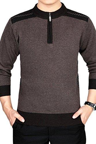 (オッサエプ)OASAP メンズ チャーミング カラーブロック ファスナー セーター
