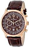 Lucien Piccard Men's LP-10526-RG-04 Ferden Analog Display Japanese Quartz Brown Watch
