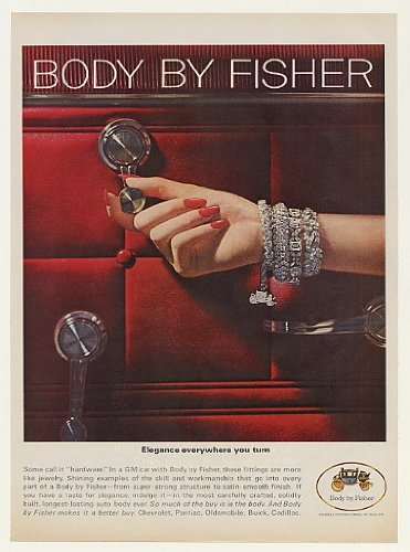 1964 GM Body by Fisher Hardware Elegance Lady Jewelry Print Ad (45179)