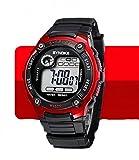 KANO BAK Child Kids Boy girl Student Digital Quartz Alarm Sports Waterproof Christmas gift Watch Red