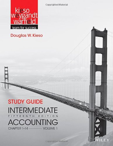 Study Guide to accompany Intermediate Accounting