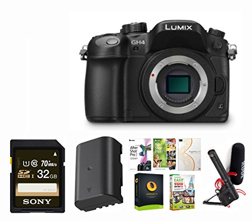 Panasonic-LUMIX-DMC-GH4KBODY-1605MP-Digital-Single-Lens-Mirrorless-Camera-with-4K-Cinematic-Video-Body-Only-with-Rode-Microphones-VideoMicro-On-Camera-Mic-32GB-Memory-Card-Accessory-Bundle