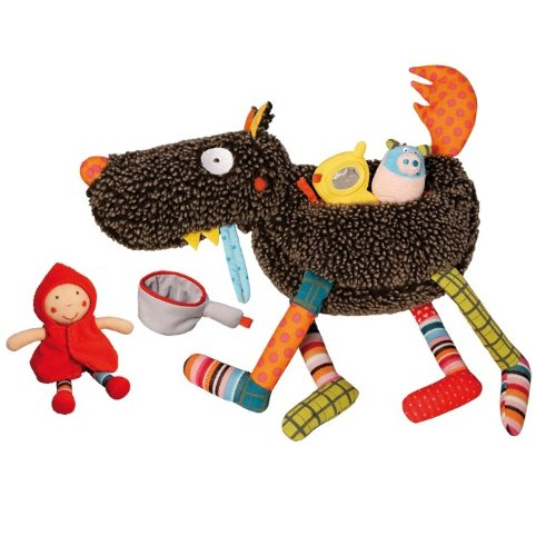 Crazy Cuddly Wolf Plush Play Set