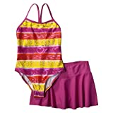 Girls' Swimwear Xhilaration Yellow 2 pc Swim Suit Set