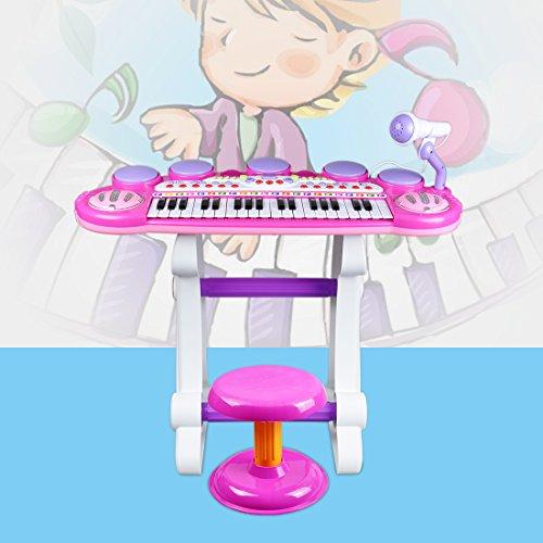 f6a439f750093 ... Izumin ピアノ椅子のセット 37キ 音楽玩具 マイク付き 椅子付き 子供練習用 ...