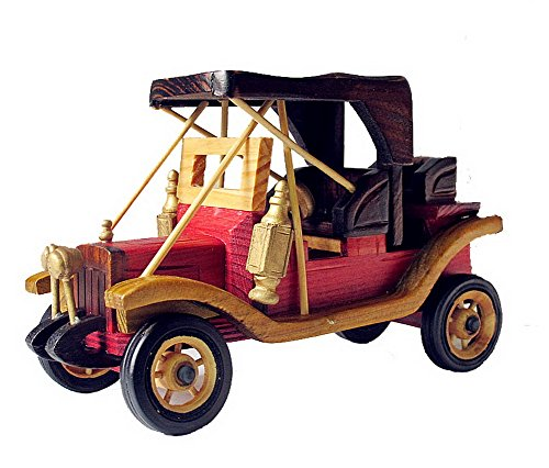 Retro Vintage Car Model to Do the Old Wooden Crafts