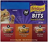 Friskies Cat Food, Meaty Bits, Variety Pack, 24-Count, 24/5.5oz