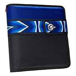 Case-it Open Tab Velcro Closure 2-Inch Binder with Tab File, Blue Prism, S-817-NEOBLPR