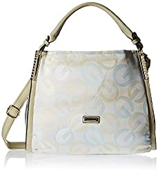 Gussaci Italy Women's  Handbag (Beige) (GC605)