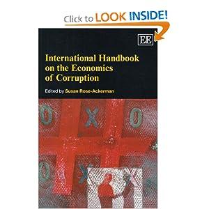 International Handbook on the Economics of Corruption (Elgar Original Reference) Susan Rose-Ackerman