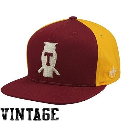 Amazon.com: NCAA adidas Temple Owls Vault Logo Snapback Hat - Cherry