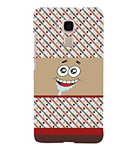 PrintVisa Cute Cartoon Patter Smiley 3D Hard Polycarbonate Designer Back Case Cover for HONOR 5C