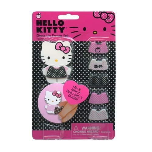 Hello Kitty Dress Up Eraser on Gift Card Set Special Edition US Market #44150 - 1