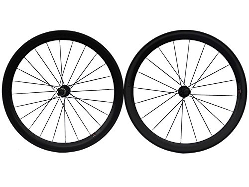 Full Carbon Matt Road Bike Bicycle Tubular Wheelsets 50mm Spoke HUB For Shimano 8/9/10/11S carbon wheels 700c 88mm depth 25mm bicycle bike rims 3k ud glossy matte road bicycles rims customize carbon rims