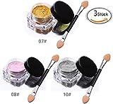 VALUE MAKERS 3 Color de 2-3g Espejo de uñas Polvo-Metálico Polaco de polvo de brillo Pigmento-Glitter Efecto de cromo clavo Herramientas de arte