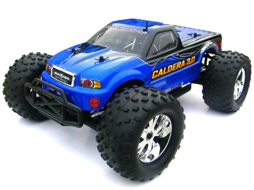 CALDERA 3.0 RC ~ 1/10 SCALE RC ~ NITRO ~ MONSTER TRUCK (2 Speed) ~ Now with 2.4 GHz Remote ~ By REDCAT RACING ~ BLUE