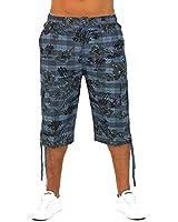 Short homme Sunrider Bermuda avec ceinture Cargo Capri pantalon pantacourt 3/4