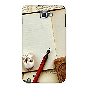 Delighted Little Diary Multicolor Back Case Cover for Galaxy Note