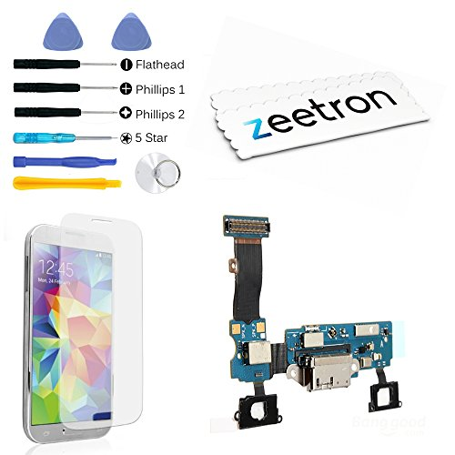 Zeetron Premium Replacement Kit For Samsung S5 Charging Usb Micro Port Dock Connector Home Flex Connecting Cable G900A (At&T Only)