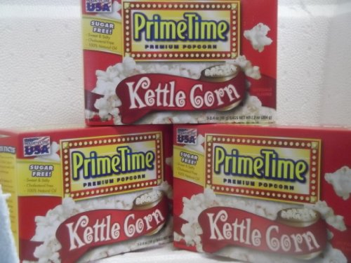Popcorn Microwave Kettle Variety, Salty & Touch Of Sweetness, (3 Boxes 3 In Each Box) Sugar Free