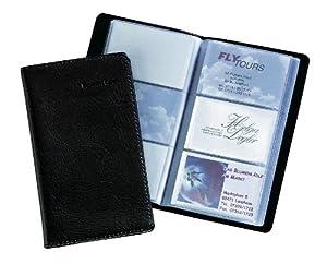 Sigel VZ171 Porte-cartes de visite Imitation cuir 20 pochettes plastique pour 120 cartes (max. 90x58 mm) Noir mat (Import Allemagne)