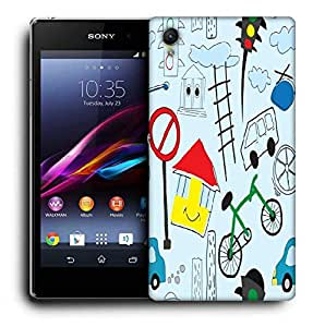 Snoogg Green Cycle Printed Protective Phone Back Case Cover For Sony Xperia Z3