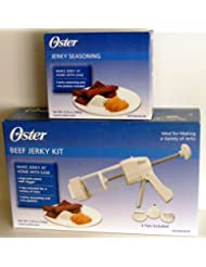 Oster Beef Jerky Gun Kit + Extra Jerky Seasoning Set by