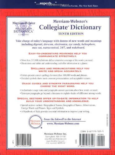 a description of conscience on websters seventh new collegiate dictionary Conscience, noun [latin , to know, to be privy to] 1 internal or self-knowledge,  or judgment of right and wrong or the faculty, power or principle within us,.
