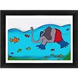 "ArtSquare ""Explorer Elephant"" Art Print (Canvas Print, 36""x24"", Myra Frame)"