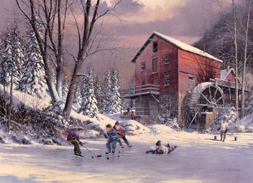 Cobble Hill The Old Mill Pond 1000 Piece Puzzle - 1